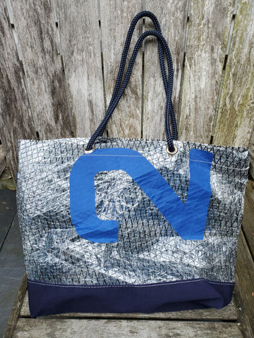 By the Bay Creations Retired Sailcloth Beach Tote  - See-Through with Numbers
