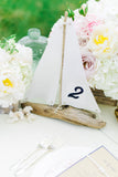 Driftwood Sailboat Centerpieces