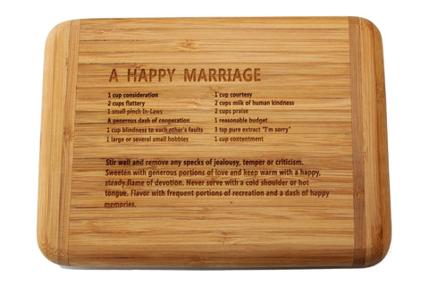 Laser Engraved Bar Board-Happy Marriage