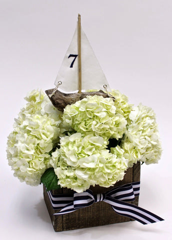 Driftwood Sailboat Centerpiece Insert