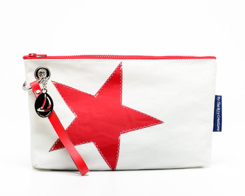 By the Bay Creations Retired Sailcloth Wristlet with Star- Various Colors