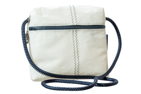 By the Bay Retired Sailcloth Crossover Bag - Classic