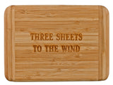 Laser Engraved Bar Board-Three Sheets To The Wind