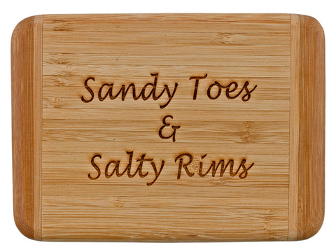 Laser Engraved Bar Board-Sandy Toes and Salty Rims