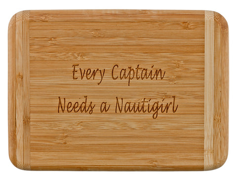 Laser Engraved Bar Board-Every Captain Needs a Nautigirl