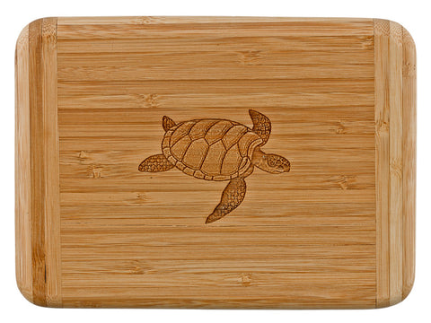 Laser Engraved Bar Board-Sea Turtle