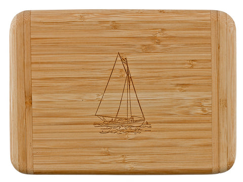 Laser Engraved Bar Board-Sailboat