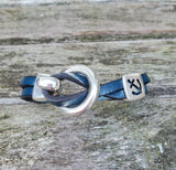 By the Bay Anchor Leather Bracelet  - Teal