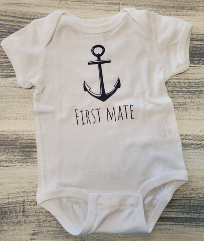 By The Bay First Mate Onesie