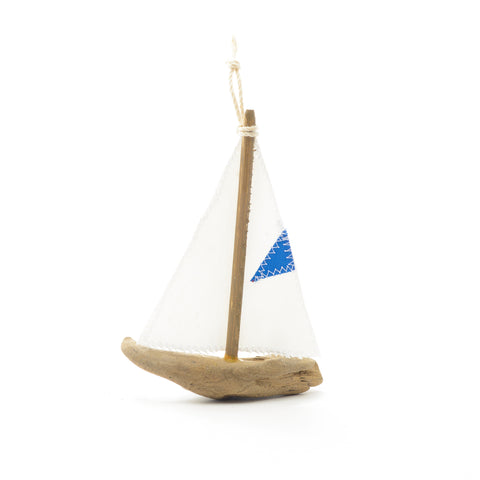 Driftwood Sailboat Ornament without grommets