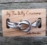 Copy of By the Bay Anchor Leather Bracelet  - Navy