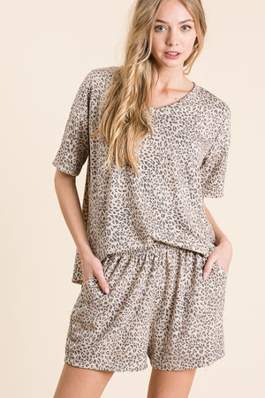 Animal Print Loungewear Set