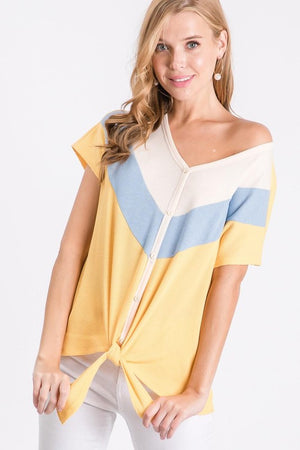 Yellow Chevron Top