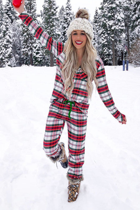 Super Soft Plaid Pajama Set