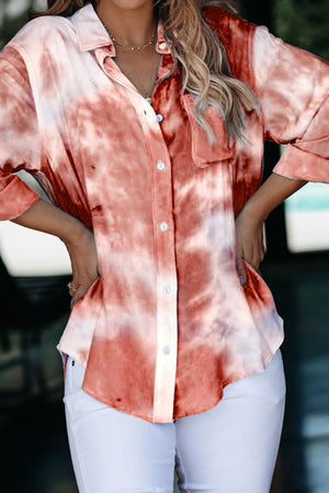 Tiedye Button Down Top