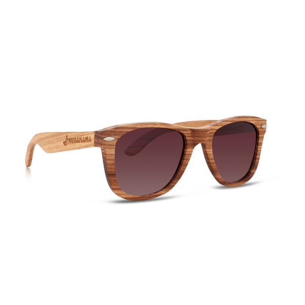 Nolies Special Edition Zebra Wood Frame Sunglasses