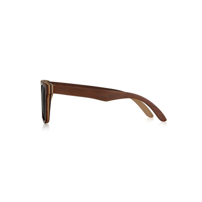 Nolies wood frame skateboard sunglasses brown maple bamboo 3