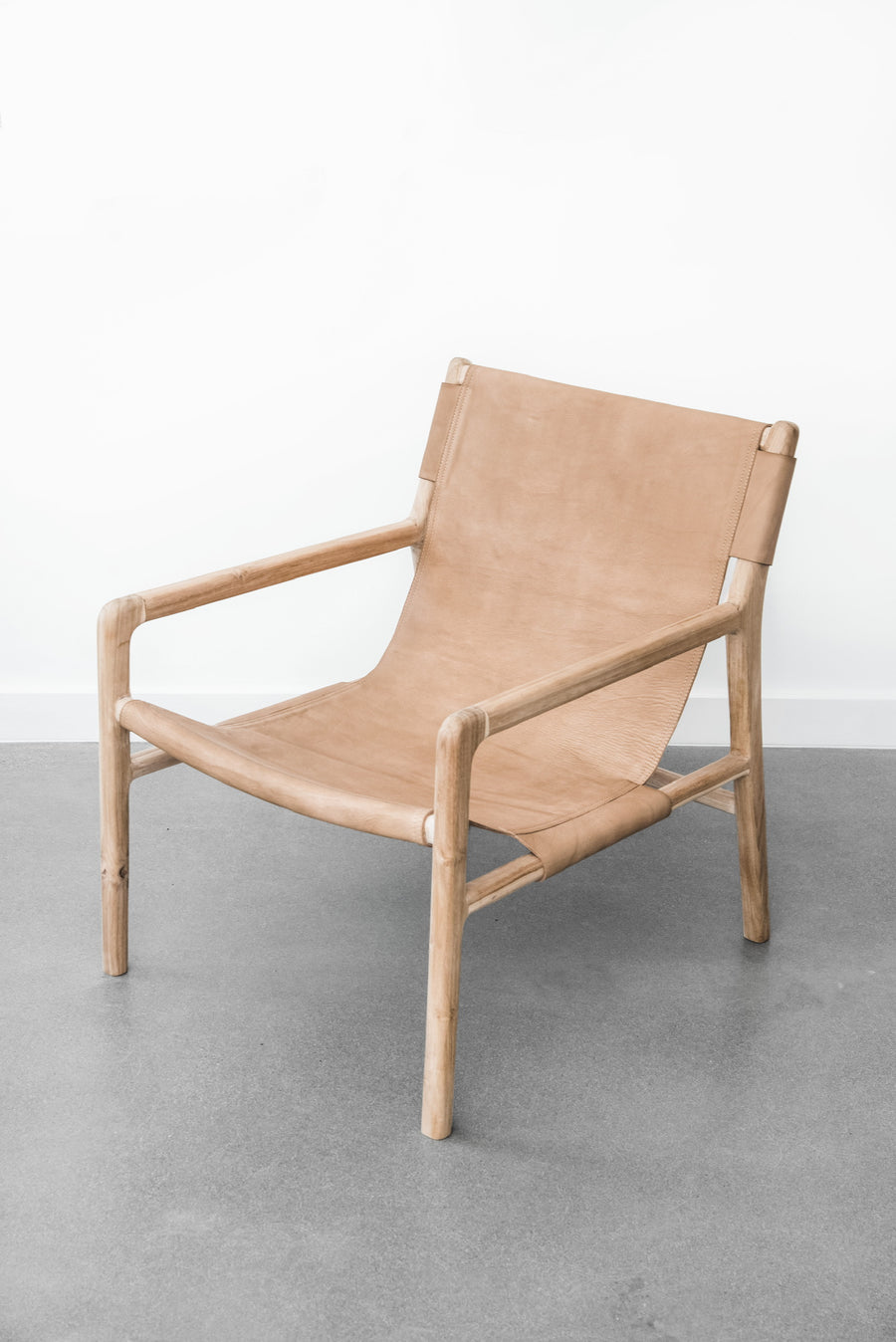 Leather Sling Lounge Chair - Saffron + Poe