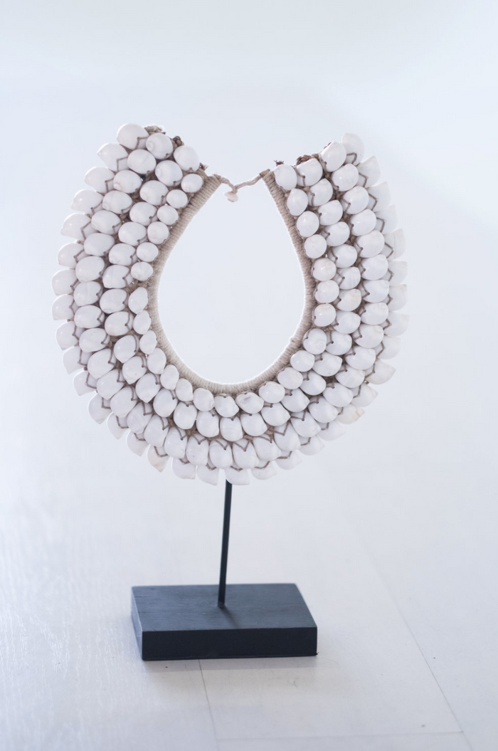 Papuan Shell Necklace - White - SaffronAndPoe.com
