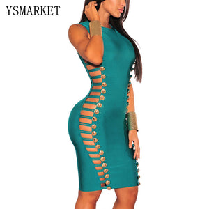 ed63d973c 2017 Sexy Hollow Out Cut Out Summer Dresses New Arrival Women Clubwear  Bandage Bodycon Pencil Dresses