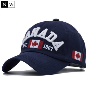 NORTHWOOD  2017 Cotton Gorras Canada Baseball Cap Flag Of Canada Hat  Snapback Adjustable Mens 7136adefa24a