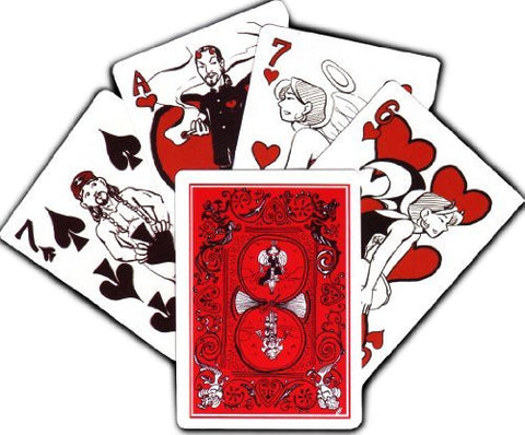 Devil's Panties Playing Cards: Red Deck