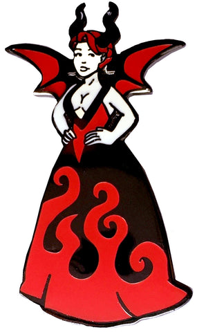 Devil Girl Pin Ballgown
