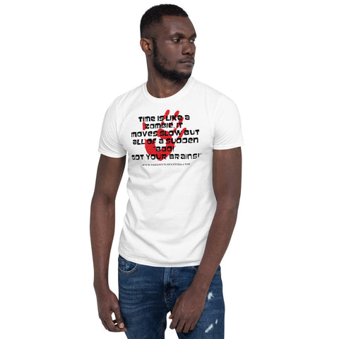 Zombie with Red Hand Print Short-Sleeve Unisex T-Shirt