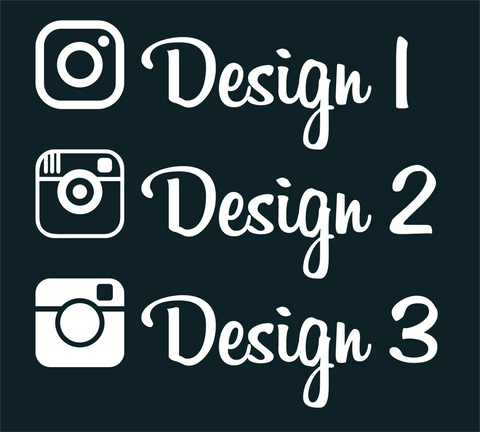 Instagram Name Decals