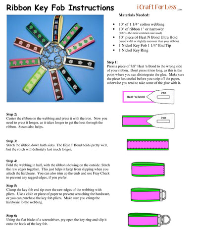 Ribbon Key fob Instructions