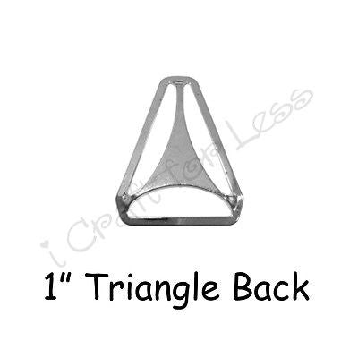 "5 Triangle Back Slide Adjusters - 1"" Suspender Clips / Hardware - Nickle Plated"