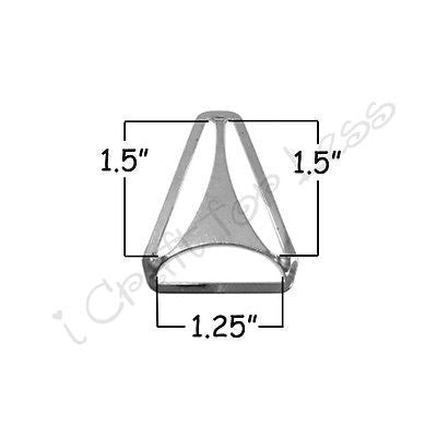 "25 Triangle Back Slide Adjuster - 1.25"" Suspender Clips / Hardware Nickle Plated"