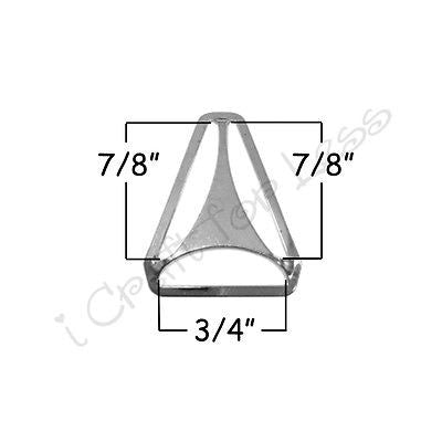 "10 - 3/4"" Suspender Clip Hardware - Triangle Back Slide Adjusters - Nickel"