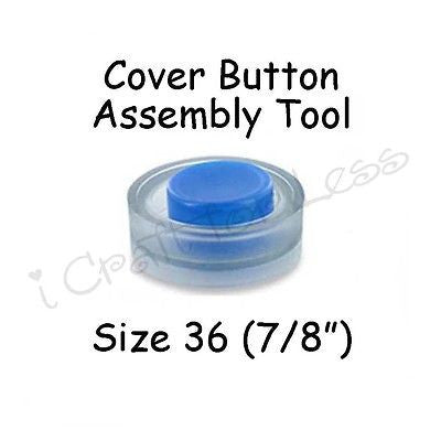 "Cover Covered Button Assembly Tool - Size 36 (7/8"" - 23mm)"