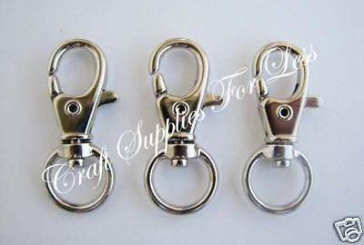 10 Snap Hook Lobster Clips for Key Fob Hardware Chains