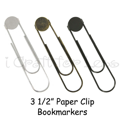 Large Paper Clip Book Markers with Glue Pad