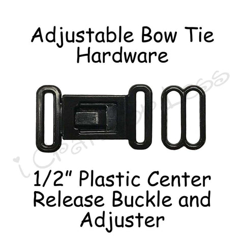 "1/2"" Bow Tie Hardware Plastic Buckle and Slide Adjuster"