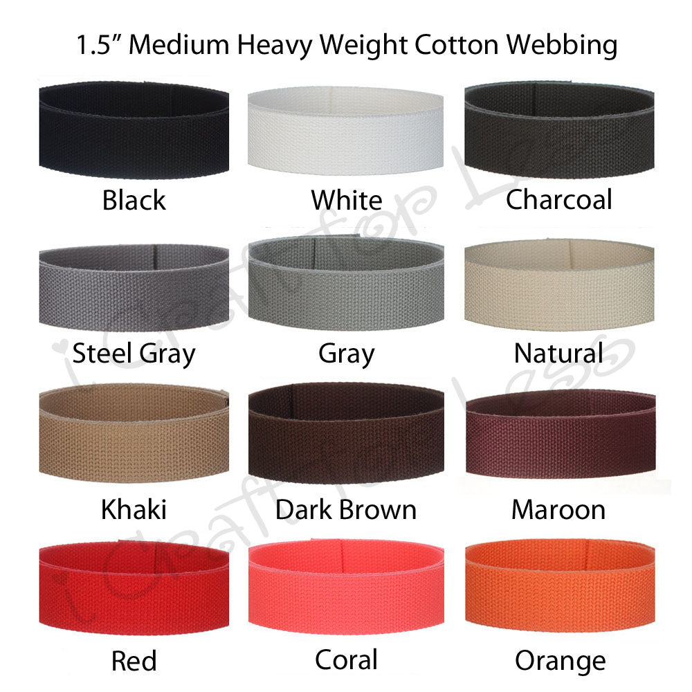 1.5 Inch Medium Heavy Cotton Webbing