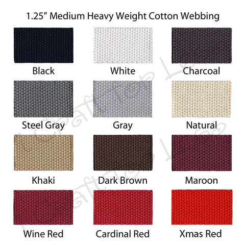"1.25"" Medium Heavy Cotton Webbing"