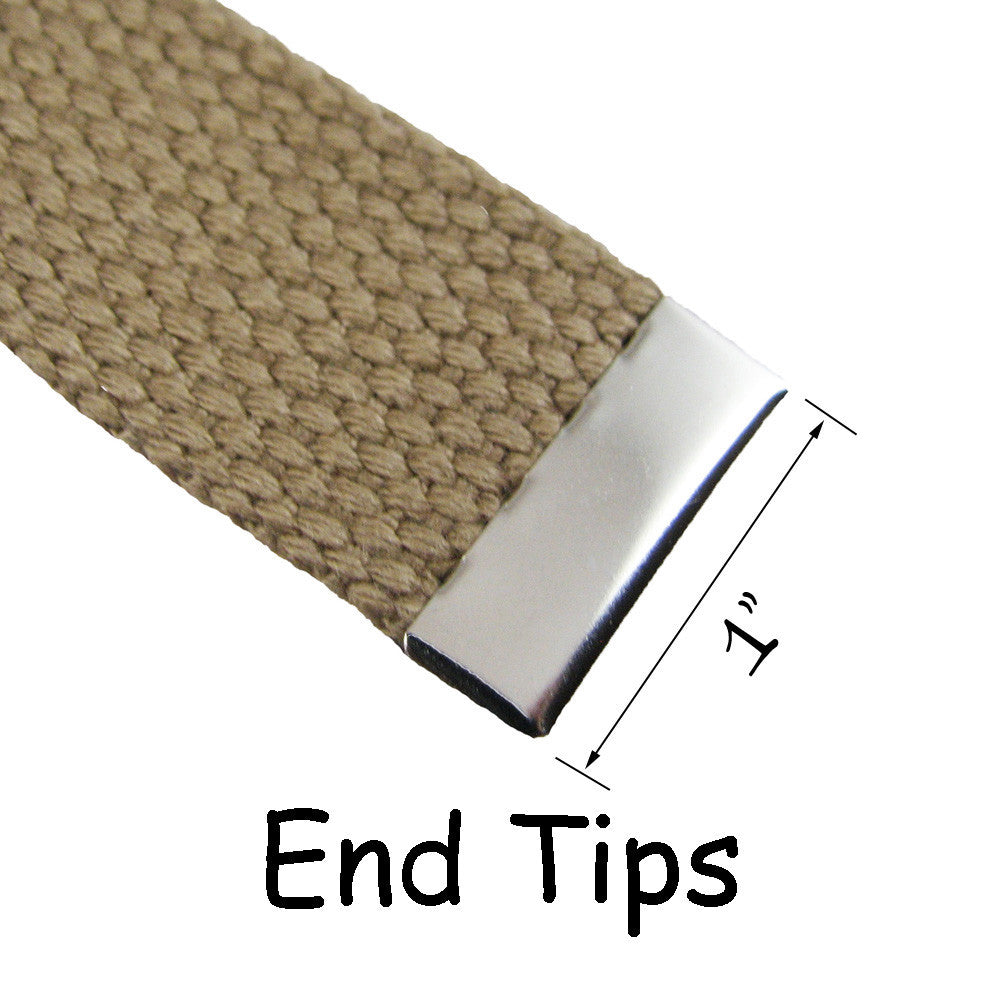 32 mm Canvas Webbing Belts 1 Military Belt Buckle and End Tip for 1.25 Inch