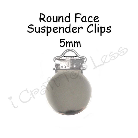 5mm Round Face Suspender Clips