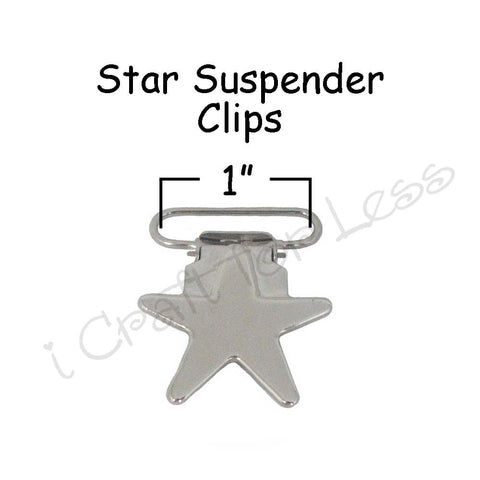 "1"" Star Suspender Clips"