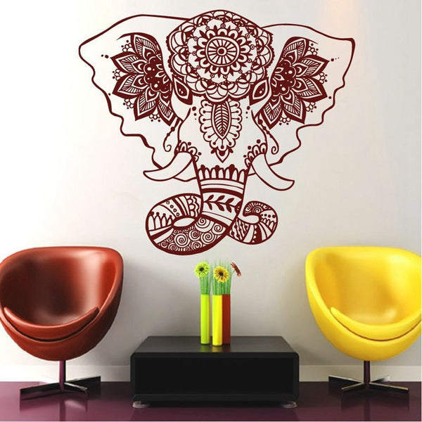 Removable Wall Sticker | Lotus Elephant