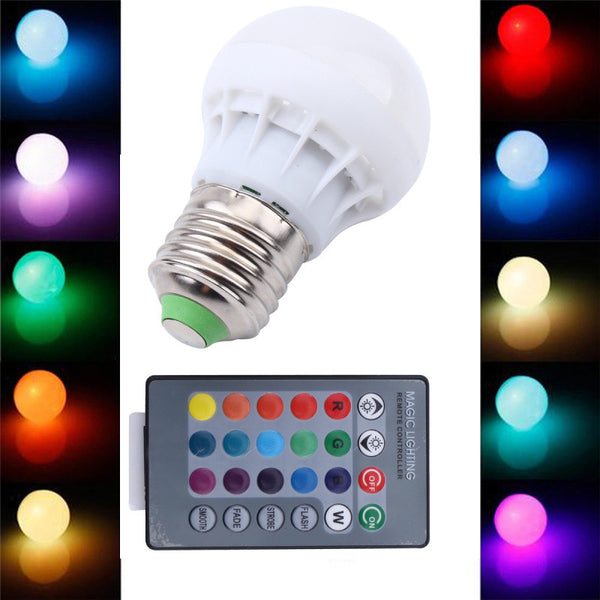 Changeable Color Light Bulb + Remote Control