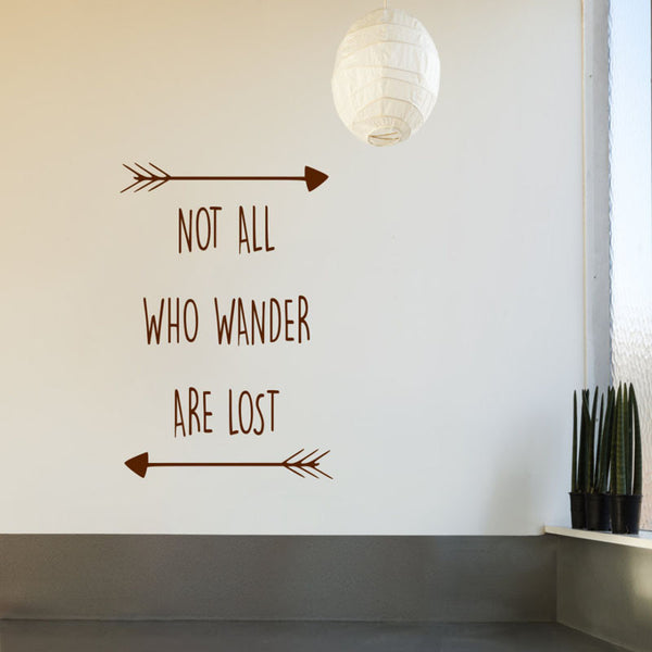 "Removable ""Wander"" Wall Stickers"