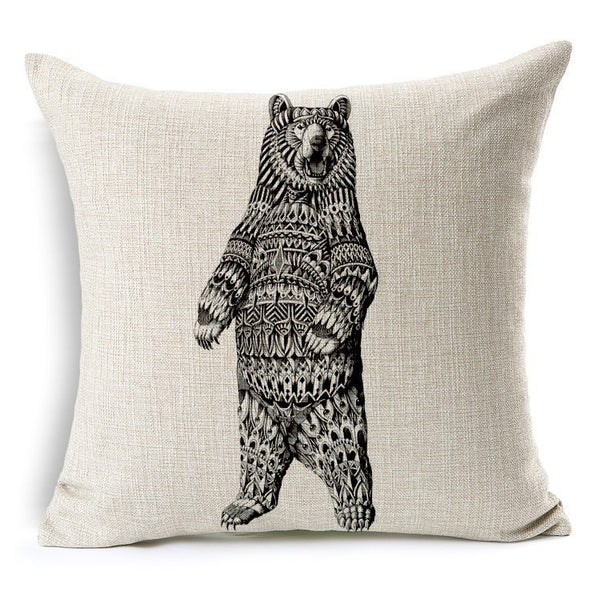 Pillow Case | Geo Animals
