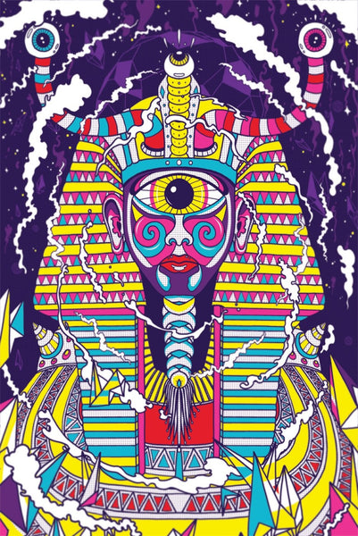 Wall Sticker (Removable) | Psychedelic Pharaoh