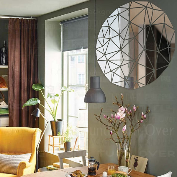 Mirror Tiles | Geo Circle - Removable