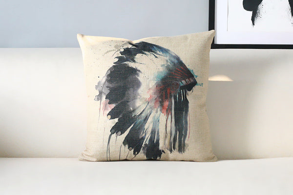 Pillow Case | Native Watercolor