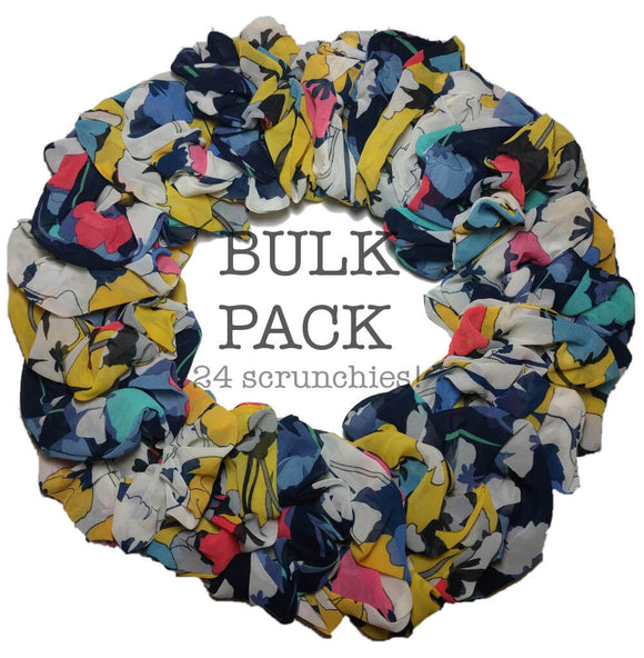 New Floral Scrunchie Bulk Pack!